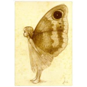 Carte Postale De Erlé Ferronnière, Titania, Reine des Fées et des Elfes