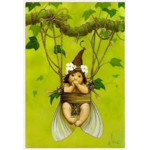 Bébé dans la Nacelle, carte postale de Erlé Ferronnière