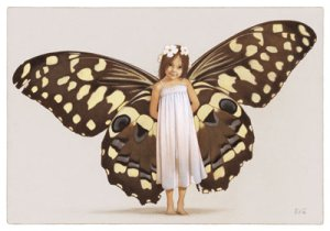Fée Papillon, carte postale de Erlé Ferronnière