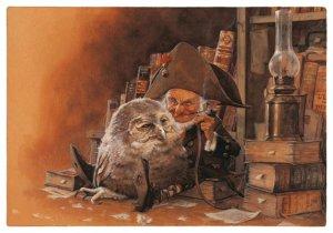Carte Postale De Jean-Baptiste Monge, Gaveur de Hibou