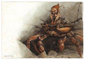 Carte Postale De Jean-Baptiste Monge, Lutin sur le Crabe