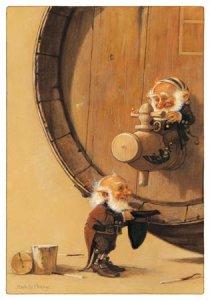 Carte Postale De Jean-Baptiste Monge, Tonneau