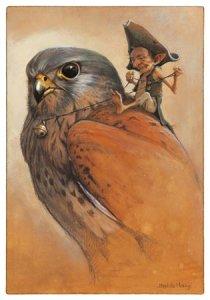Lutin sur le Faucon, carte postale de Jean-Baptiste Monge