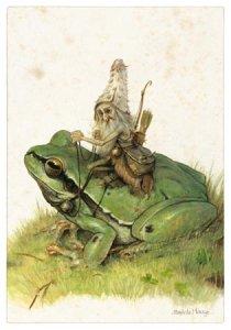 Lutin sur la Grenouille, carte postale de Jean-Baptiste Monge