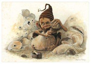 Carte Postale De Jean-Baptiste Monge, Perceur de Coques
