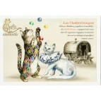 Carte Postale Les Chaltimbanques Chats Enchantés illustré par Séverine Pineaux