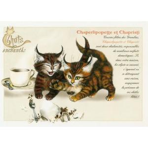 Carte postale Chaperlipopette et Chapristi de Séverine Pineaux