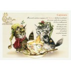 Carte Postale Catiminis Chats Enchantés illustré par Séverine Pineaux