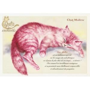 Carte postale Chat Mallow de Séverine Pineaux