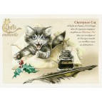 Carte Postale Christmas Cat Chats Enchantés illustré par Séverine Pineaux