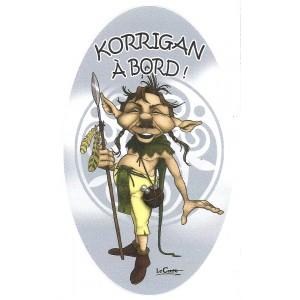 Autocollant Korrigan à bord ! de Nicolaz Le Corre