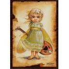 Carte postale Mandoline de Nicolaz Le Corre - La Musique des Fées