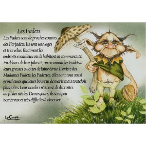 Carte postale Les Fadets de Nicolaz Le Corre - Le Petit Peuple de Nicolaz