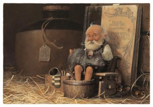 Kizidik & Tonton Logodenn, carte postale de Jean-Baptiste Monge