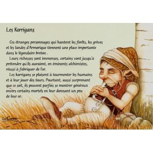 Carte postale Les Korrigans de Nicolaz Le Corre - Le Petit Peuple de Nicolaz