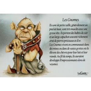Carte postale Les Gnomes de Nicolaz Le Corre - Le Petit Peuple de Nicolaz