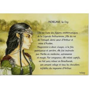 Carte postale Morgane La Fey de Nicolaz Le Corre - Légende Arthurienne de Nicolaz