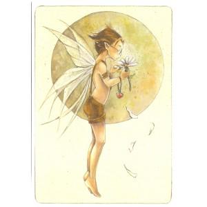 Carte postale Il m'aime? de Delphine Gache - Lily Rose Poddington
