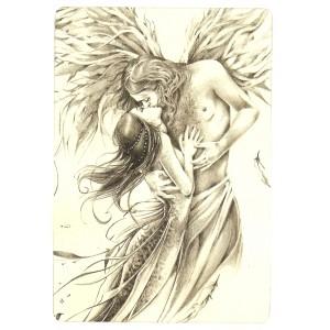 Carte postale L'Ange de Delphine Gache - Lily Rose Poddington