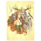 Carte postale Titania et Obéron de Delphine Gache - Lily Rose Poddington