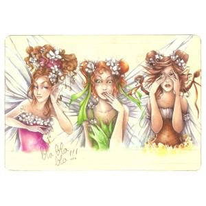 Carte postale Fées espiègles de Delphine Gache
