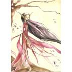 Carte postale Elfe Japonaise de Delphine Gache
