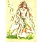 Carte postale L'elfe des vents de Delphine Gache