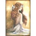 Carte postale Viviane de Delphine Gache - Légende Arthurienne de Delphine