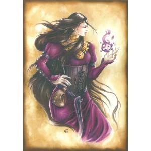 Carte postale Morgane de Delphine Gache - Légende Arthurienne de Delphine