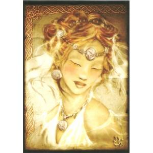 Carte postale Dame Celte de Delphine Gache - Légende Arthurienne de Delphine