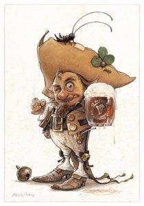 Esprit de la St Patrick, carte postale de Jean-Baptiste Monge