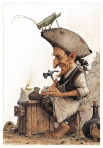 Carte Postale De Jean-Baptiste Monge, Petit Cordonnier