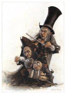 Trois Mendiants, carte postale de Jean-Baptiste Monge