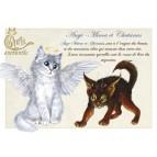 Carte postale Chatanas et Ange-Minou de Séverine Pineaux