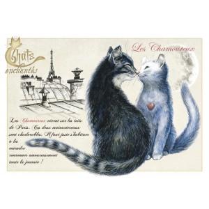 Carte postale Les Chamoureux de Séverine Pineaux