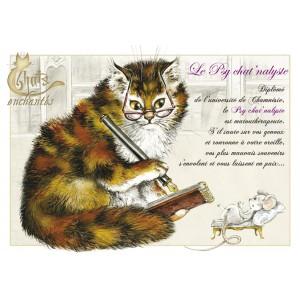 Carte postale Psychat'nalyste de Séverine Pineaux