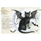 Carte postale Gothicat de Séverine Pineaux