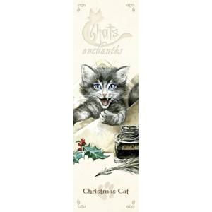 Marque page Christmas Cat de Séverine Pineaux