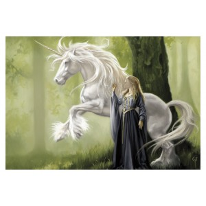 Carte postale La Dame à la licorne de Sandrine Gestin