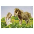 Carte postale La princesse au bouquet de Sandrine Gestin