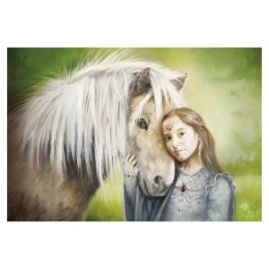 Carte postale Princesse et Poney de Sandrine Gestin