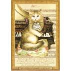 Wolfgang Chamadeus Mozart, Carte postale de Séverine Pineaux – Les Histochats