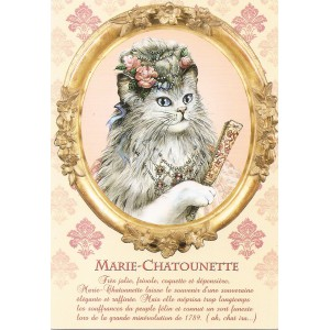Marie-Chatounette, Carte postale de Séverine Pineaux - Les Histochats