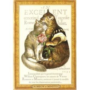 Romeow et Minette, Carte postale de Séverine Pineaux - Les Histochats