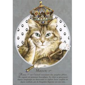 Matou 1er, Carte postale de Séverine Pineaux - Les Histochats