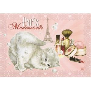 Mademoiselle, Carte postale de Séverine Pineaux  - Chats de Paris