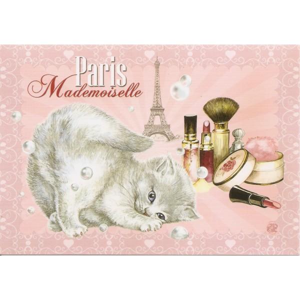 carte postale de s verine pineaux mademoiselle chats de paris. Black Bedroom Furniture Sets. Home Design Ideas