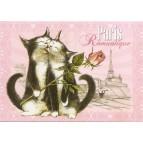 Romantique, Carte postale de Séverine Pineaux  - Chats de Paris