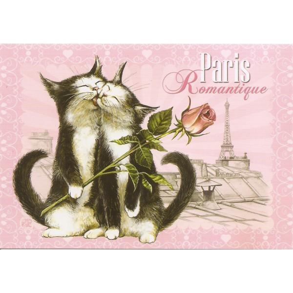 carte postale de s verine pineaux romantique chats de paris. Black Bedroom Furniture Sets. Home Design Ideas