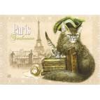 Sorbonne, Carte postale de Séverine Pineaux  - Chats de Paris